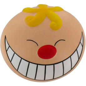 Printed Funny Face with Smile Stress Reliever