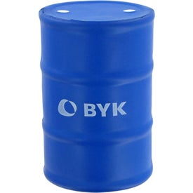 Imprinted Gallon Drum Stress Toy