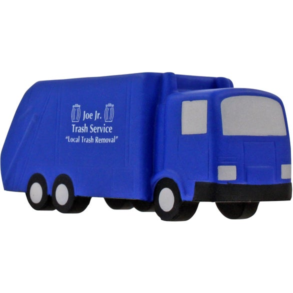 Blue Garbage Truck Stress Ball
