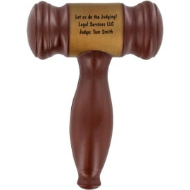 Branded Gavel Stress Ball