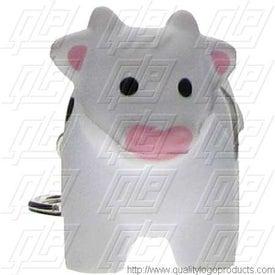 Personalized GEL-EE Gripper Milk Cow Key Chain Stress Ball