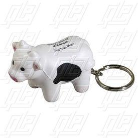 GEL-EE Gripper Milk Cow Key Chain Stress Ball