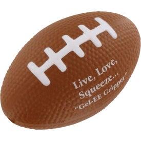 Personalized GEL-EE Gripper Football Stress Ball