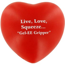 Monogrammed GEL-EE Gripper Valentine Heart Stress Ball