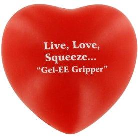 Monogrammed GEL-EE Gripper Valentine Heart Stress Ball