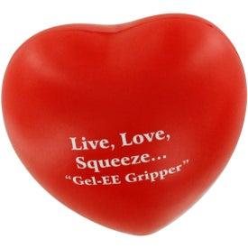 Custom GEL-EE Gripper Valentine Heart Stress Ball