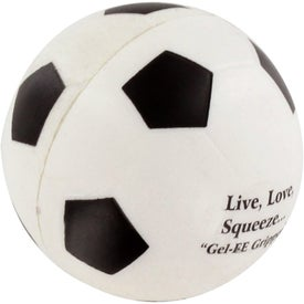 GEL-EE Gripper Soccer Stress Ball with Your Logo