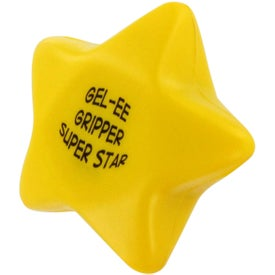 Monogrammed GEL-EE Gripper Star Stress Ball