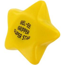 Monogrammed GEL-EE Gripper Star Stress Ball