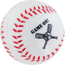 Personalized GEL-EE Gripper Baseball Stress Ball