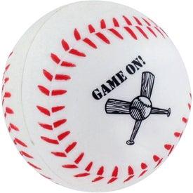 Personalized GEL-EE Gripper Baseball Stress Ball