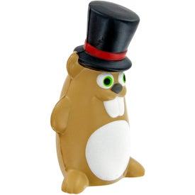 Imprinted Gentleman Ground Hog Stress Toy