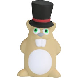 Printed Gentleman Ground Hog Stress Toy