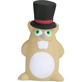 Printed Gentleman Ground Hog Stress Toy