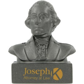 George Washington Bust Stress Ball with Your Logo