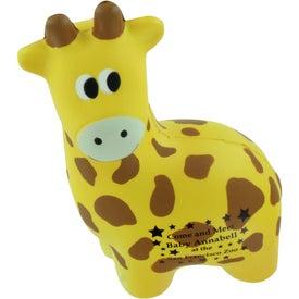 Promotional Giraffe Stress Ball