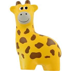 Giraffe Stress Ball with Your Slogan