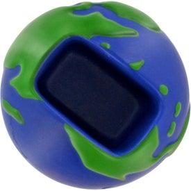 Monogrammed Earth Desktop Bin Stress Ball