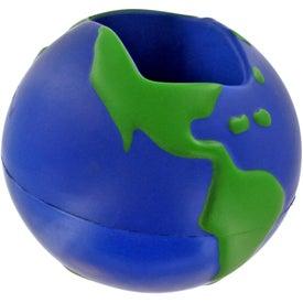 Promotional Earth Desktop Bin Stress Ball