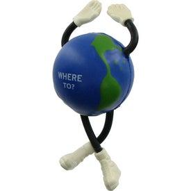 Printed Globe Guy Stress Ball