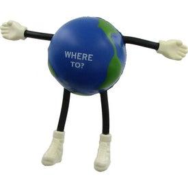 Globe Guy Stress Ball for Marketing