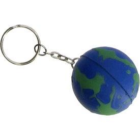 Advertising Earthball Key Chain Stress Ball