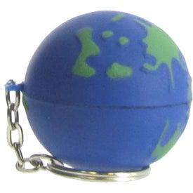 Customized Earthball Key Chain Stress Ball
