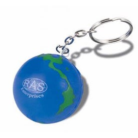 Earthball Key Chain Stress Ball (Economy)