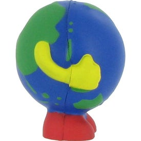 Globe Man Multi-Colored Stress Ball Imprinted with Your Logo