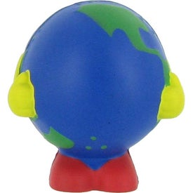 Globe Man Multi-Colored Stress Ball for your School
