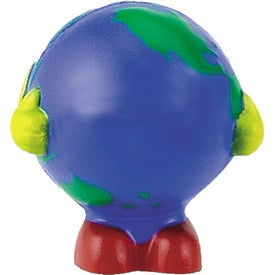 Globe Man Multi-Colored Stress Ball with Your Logo