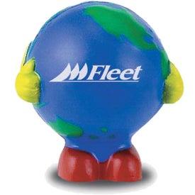 Globe Man Multi-Colored Stress Ball