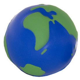 Globe Stress Ball Printed with Your Logo