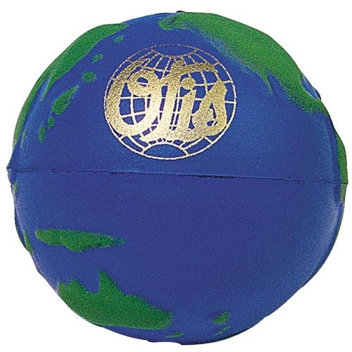 Globe Stress Ball with Raised Continents