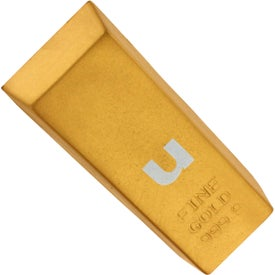 Printed Gold Bar Stress Reliever