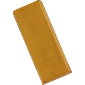 Gold Bar Stress Reliever Imprinted with Your Logo