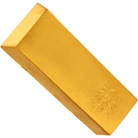 Imprinted Gold Bar Stress Reliever