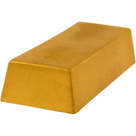 Gold Bar Stress Reliever with Your Slogan