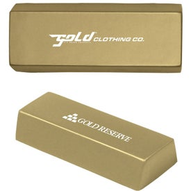 Gold Bar Stress Ball for Marketing