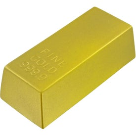 Gold Bar Stress Toy Branded with Your Logo