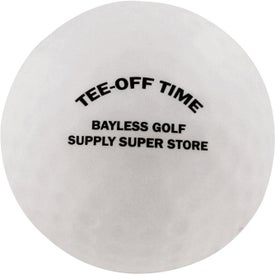 Printed Golf Ball Stress Ball