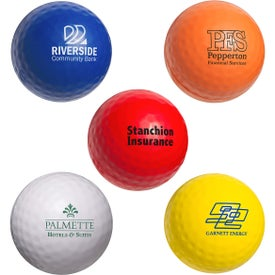 Advertising Golf Ball Stress Ball