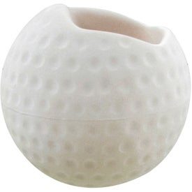 Branded Golf Ball Cell Phone Holder Stress Toy