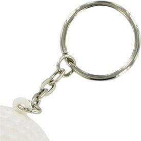 Company Golf Ball Keychain Stress Toy