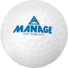 Printed Golf Ball Squeeze Toy