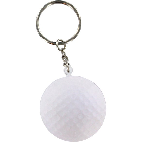 Golf Ball Stress Ball Key Chain