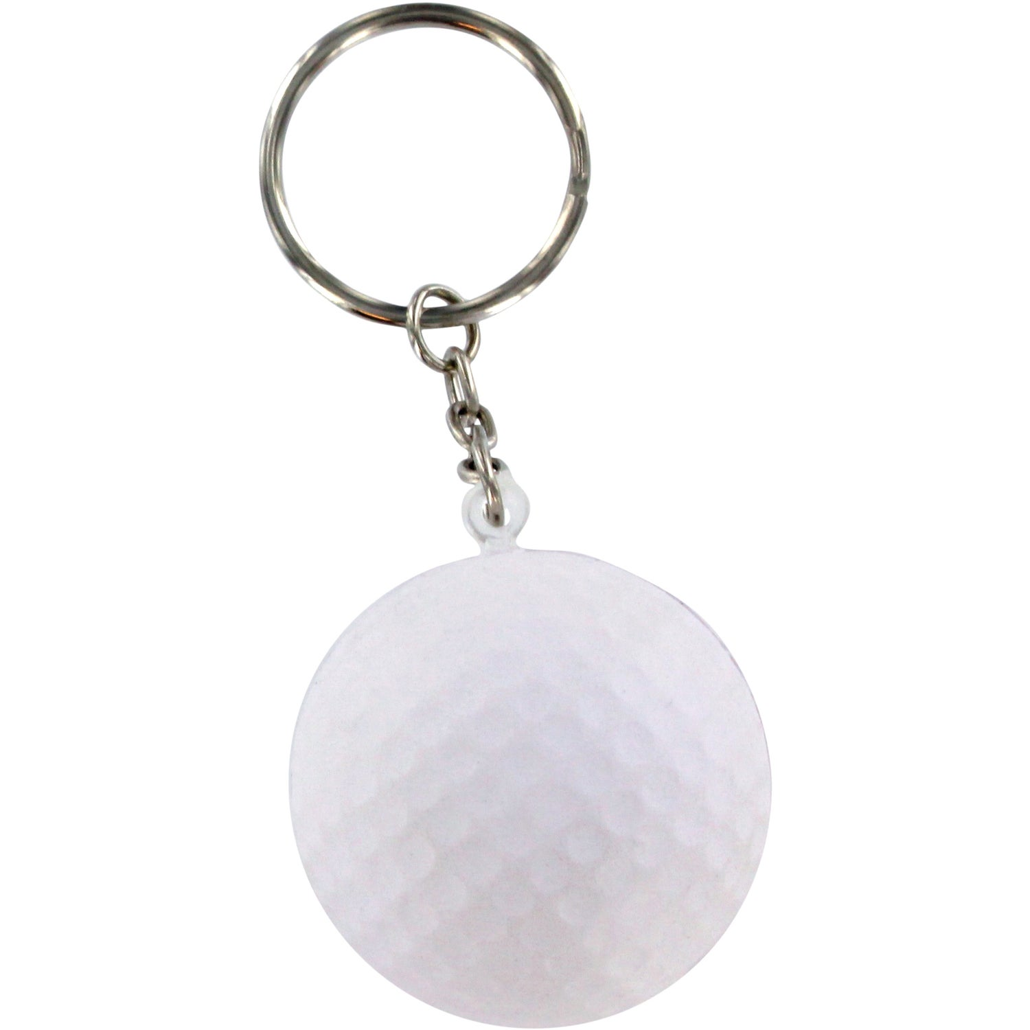 promotional golf ball stress ball key chains with custom logo for