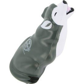 Branded Gray Wolf Stress Ball