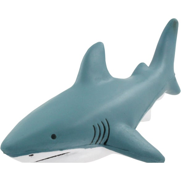 Gray / White Great White Shark Stress Reliever