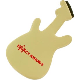 Electric Guitar Stress Ball with Your Slogan